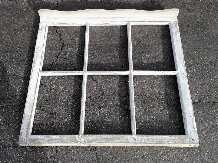 unique vintage window frame with a prima transfer