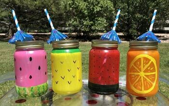 How To Make Mason Jar Fruit Glasses