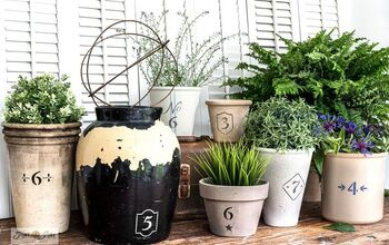 Flip Any Boring Plant Pot Into a Charming Vintage Crock Cutie!