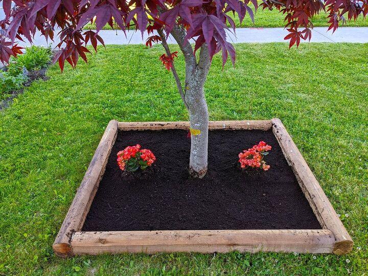 tree base flower box