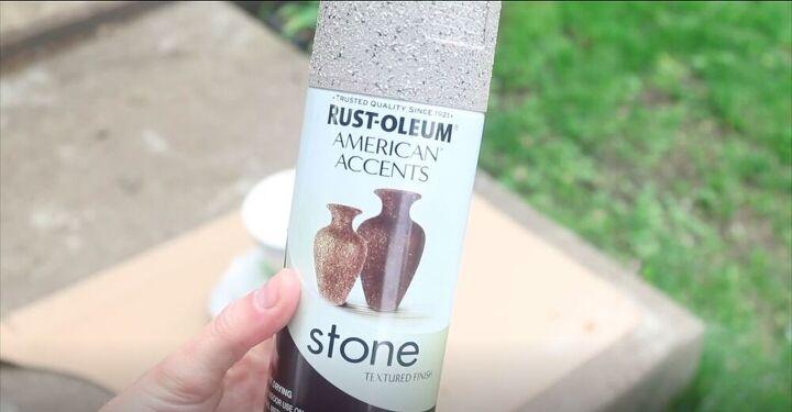 Faux Stone Spray Paint