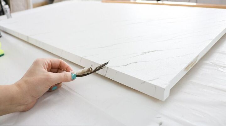 faux marble counter top using plywood