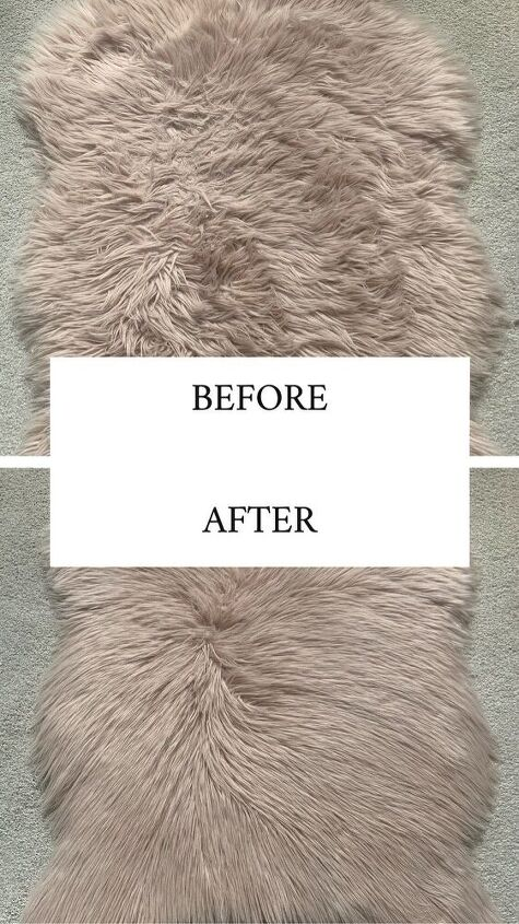 how to revive a faux fur rug with conditioner