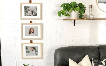 Faux Leather Hanging Straps for a Gallery Wall