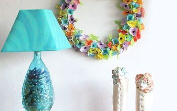 Repurposed Plastic Egg Carton Wreath