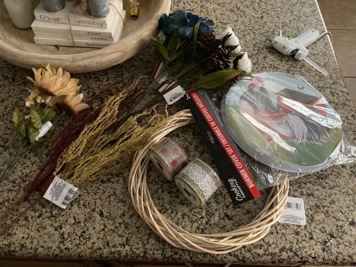 how to make a wreath with a stove cover