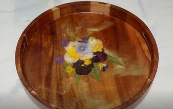 Decorate a DIY Resin Tray With Pressed Flowers for Custom Home Decor