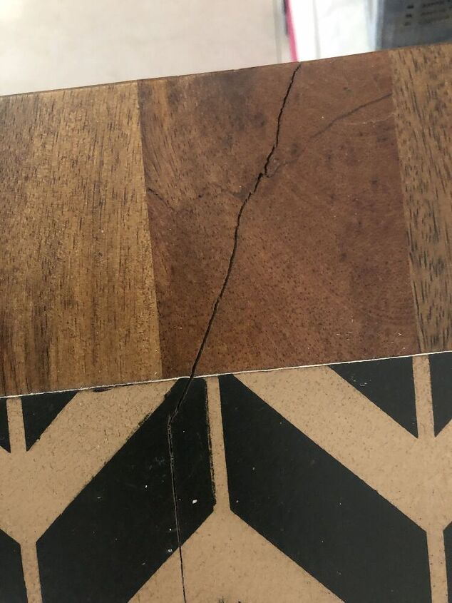 q how to mend a small crack in my mango wood coffee table