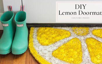 DIY Lemon Doormat