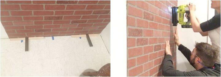 easy diy faux brick wall