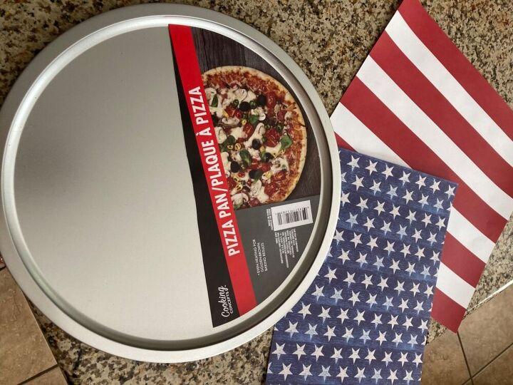 pizza pan flag
