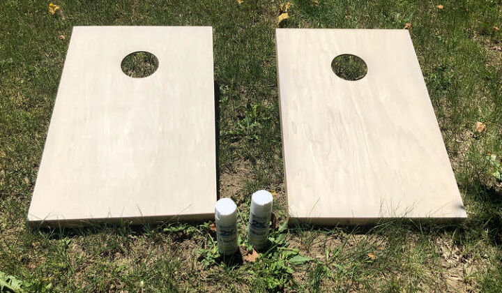 how to paint corn hole boards diy