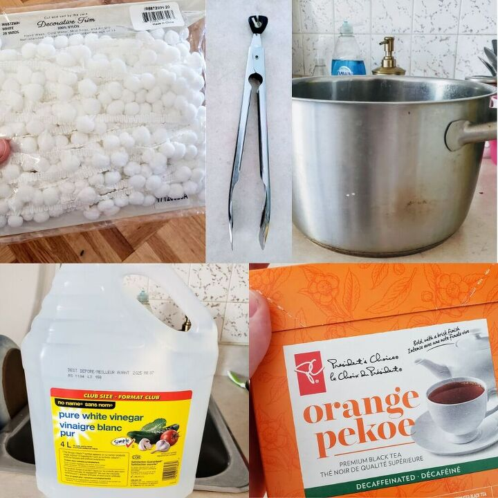 natural fabric dying with tea