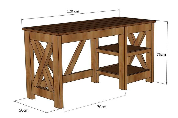 farmhouse x office desk