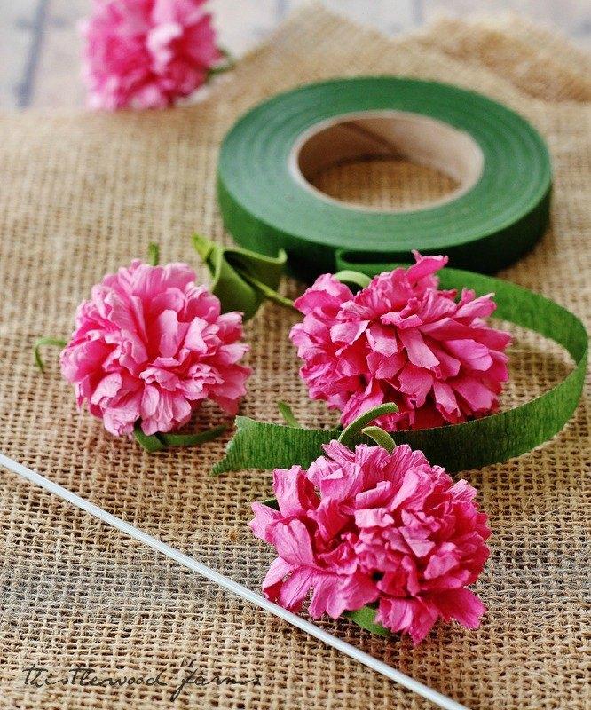 diy burlap flower project