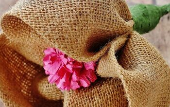 DIY Burlap Flower Project