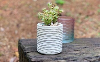 Make A Silicone Mold For A Textured Cement Planter