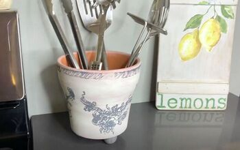 Create a Country Chic Utensil Caddy From a Terra Cotta Pot