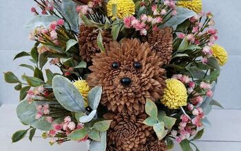 How to Make a Dog...Out of Sola Wood Flowers!