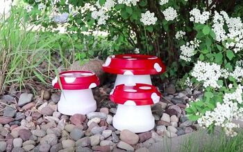 Bring a Little Whimsy to Your Garden With This Mushroom Garden Decor