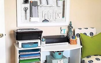 Re-purposed Paper Organizer Desk