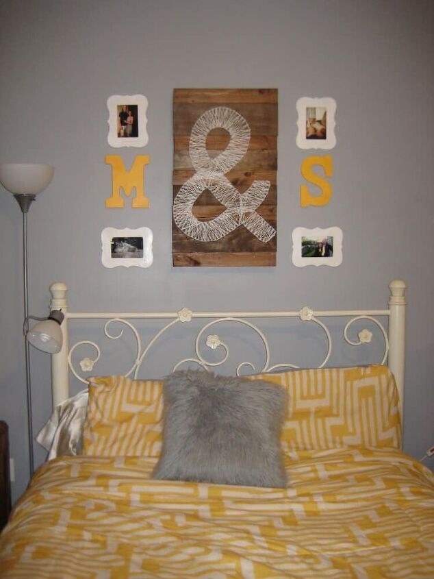 how to temporarily upholster a metal headboard