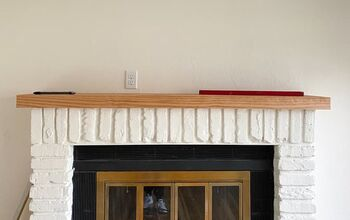 How To Make A Mantel With Only Two Boards