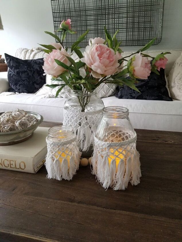 dress up empty jars into fun boho style summer accessories