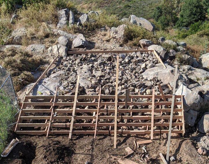 q concrete over big rocks