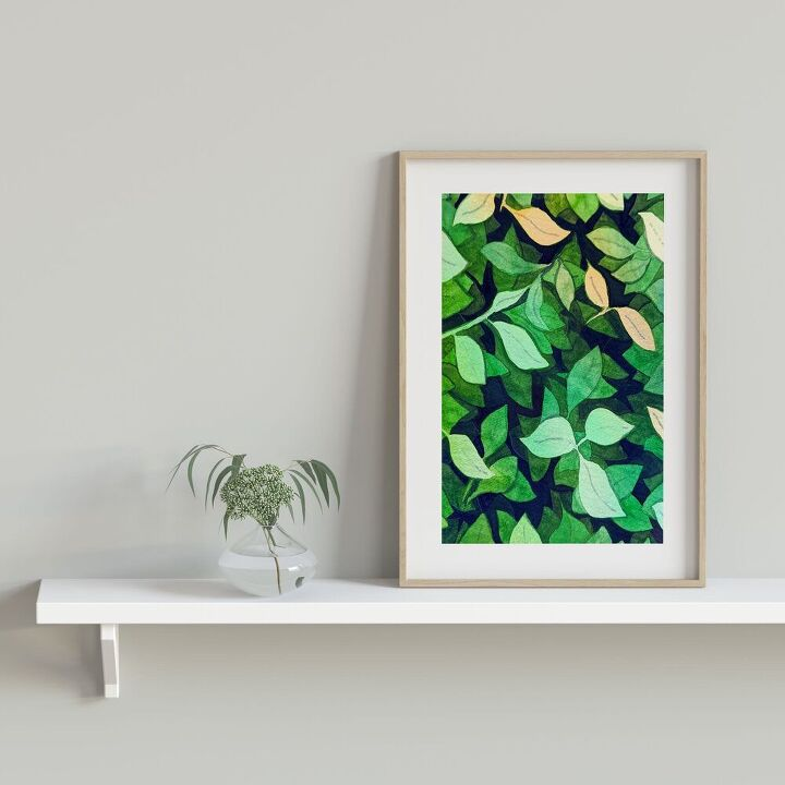 negative watercolour painting wall decor