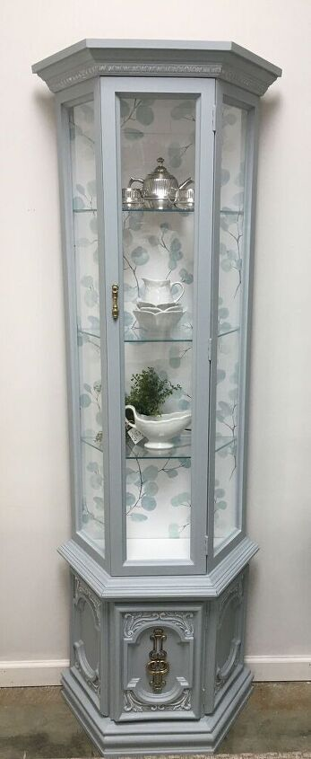 curio cabinet gets a much needed makeover