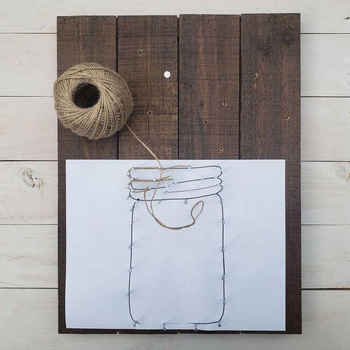 string art farmhouse style