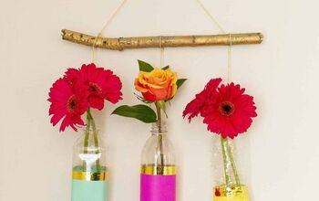 How to Make an Upcycled Floral Wall Hanging