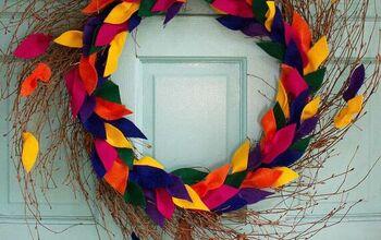 How to Make a DIY Fall Felt Leaf Wreath