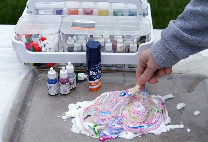 how to create shaving cream art