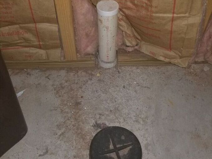 q can i drain a sink into a toilet vent