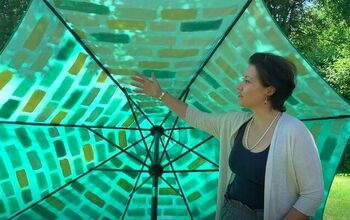 Revamp an Old Patio Umbrella With This DIY Painted Umbrella Makeover