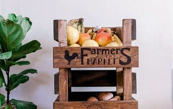 DIY Wooden Produce Storage Rack