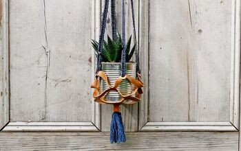 How to Make Easy Upcycled Fabric Hanging Planters.