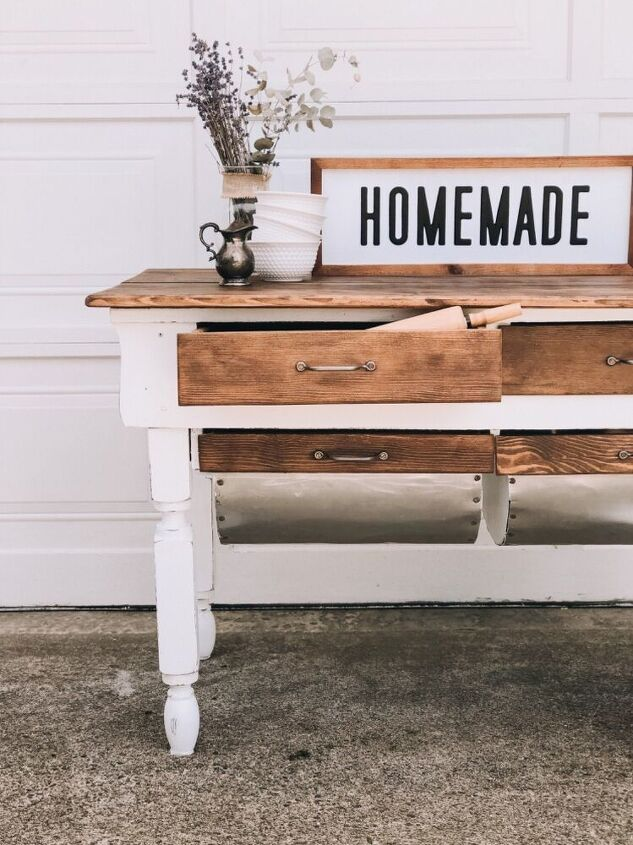 1800s bakers table makeover