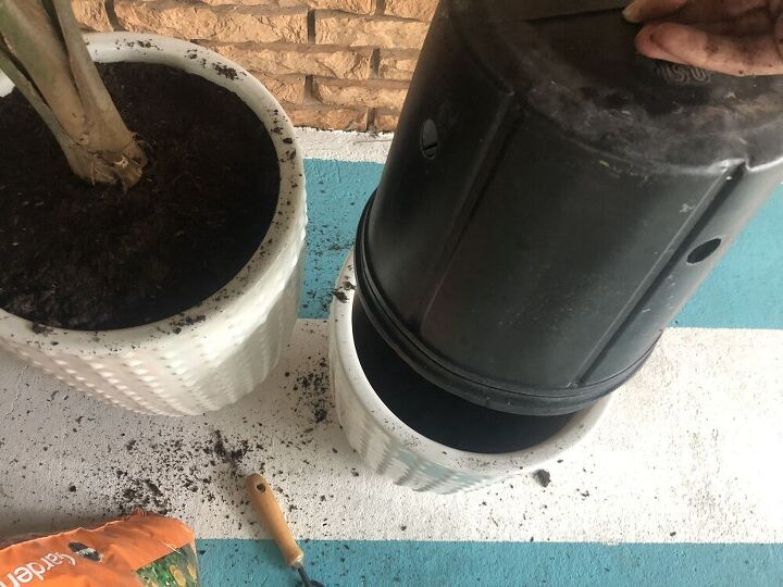 how to fill large pots