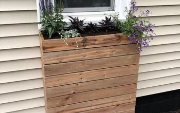 Modern Slat Window Planter