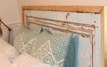 Old to Gold: Old Door Headboard