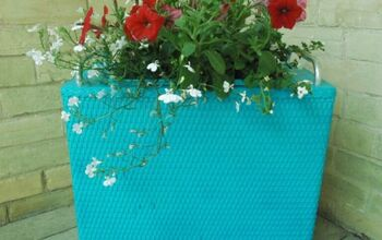 Repurposed Laundry Hamper Planter