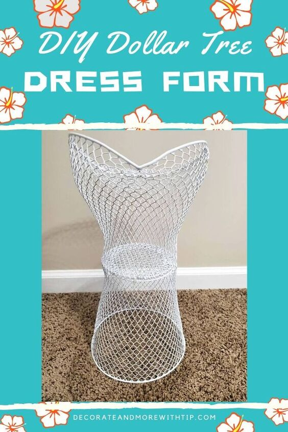 diy dollar tree dress form