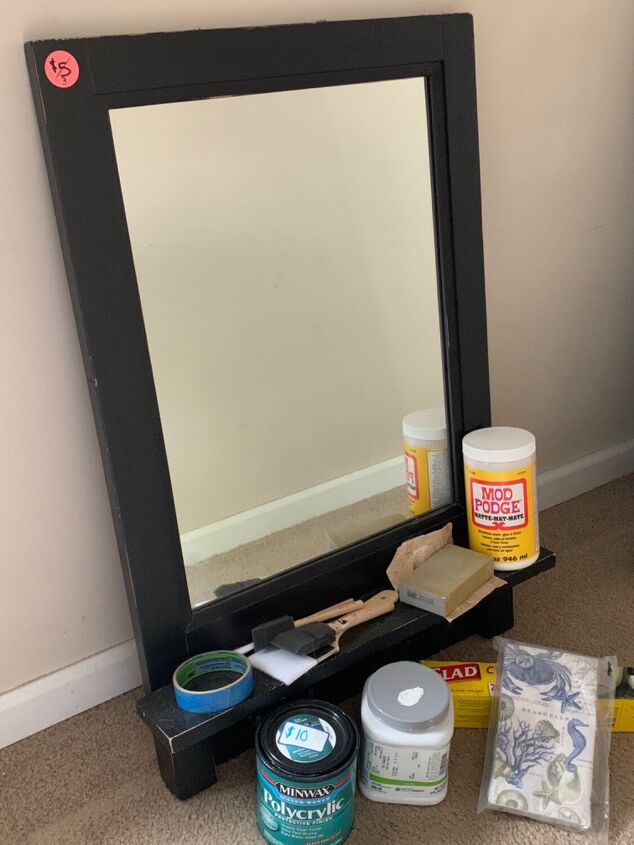 a yard sale find beautified, This mirror had lots of potential
