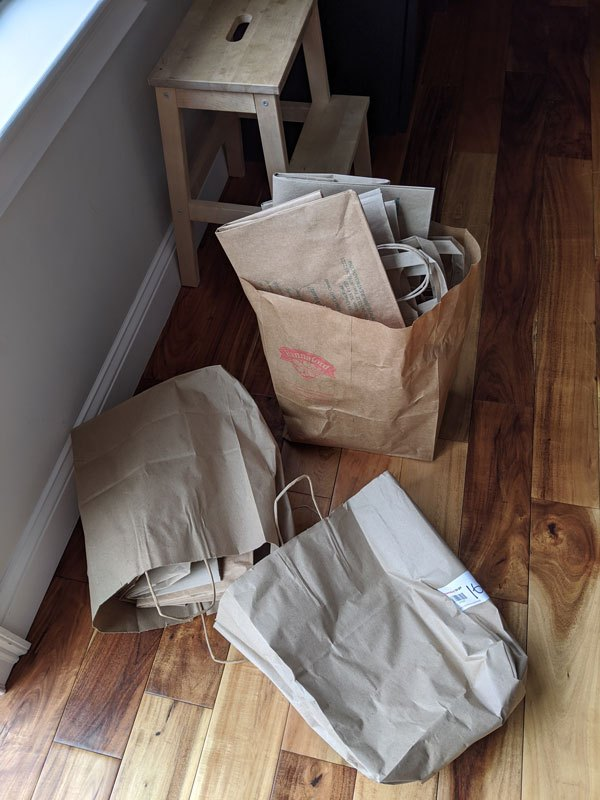how to decoupage laminate furniture with brown paper bags
