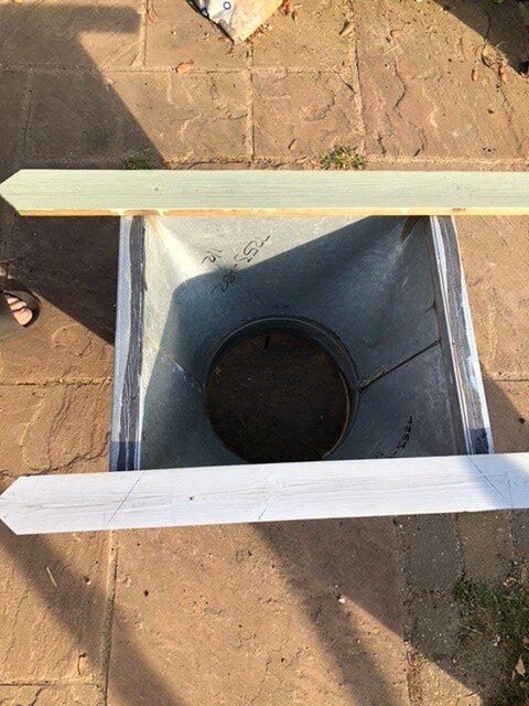 ducting unit into planter