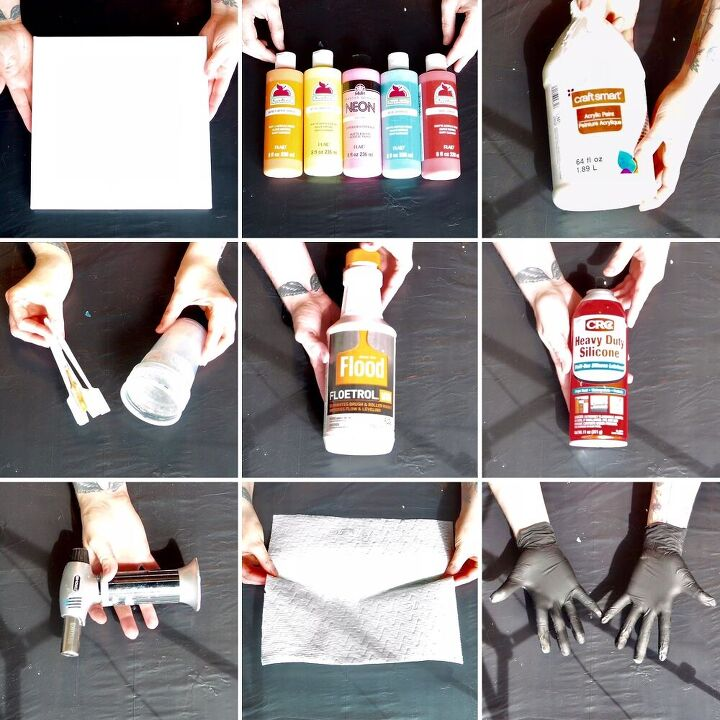swipe acrylic pour painting