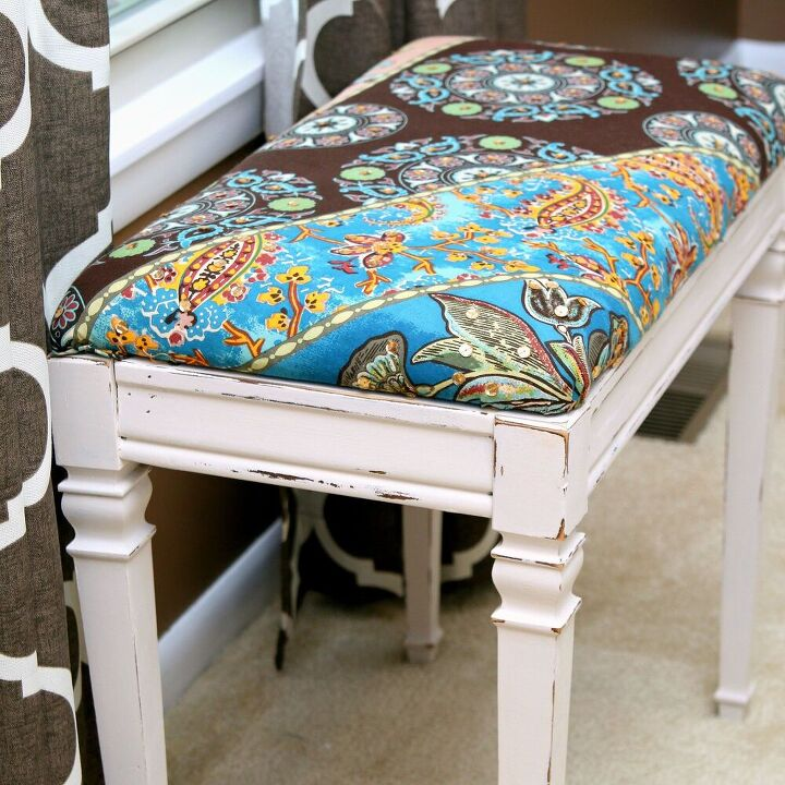 how to update a piano bench with paint and fabric